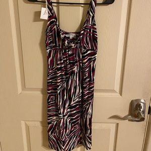 Velvet torch front tie dress